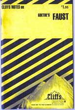 CliffsNotes on Goethe's Faust 1967 Cliffs Notes Cliffnotes