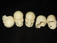 "Hand carved Bone (Bos taurus) Human Skull : apprx 3.5 cms : 1 3/8"" : UK despatch"