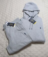 Polo Ralph Lauren Fleece Joggers Set Hoodie and Sweat Pants Medium Gray NWT
