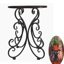 Metal Flower Pot Rack 13'' High Vintage Plant Stand in Balcony Garden