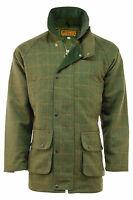 Men's Game 6C Dark Derby Tweed Shooting Hunting Jacket Coat Waterproof Fabric BN