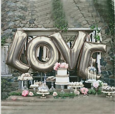 Love Foil Wedding Balloons Wedding Decoration - Silver 40 Inch/100CM  Letters