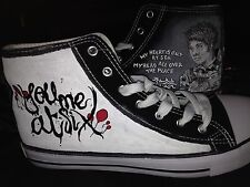 YOU ME AT SIX HAND PAINTED HIGH TOPS CUSTOMISED TO ORDER