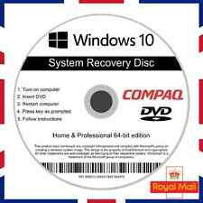 Compaq Windows 10 Home & Professional Recovery Repair Install Boot Disc Software