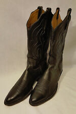 Lucchese 1550 Black Classic Glove Leather Cowboy Boots 7.5 D