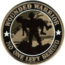 "Wounded Warrior Patch / No One Left Behind 4"" Embroidered Patch 73209"