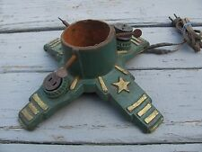 Vintage Cast Iron Christmas Tree Stand With Electric Light Outlets