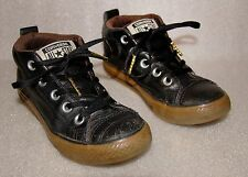 Kid's Unisex Black Leather Converse High Tops