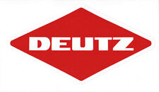DEUTZ Aufkleber  Logo Emblem Sticker Label  23x12,8 cm.