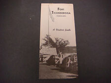 Vintage Fort Ticonderoga (Carillon) Brochure  A Visitor's Guide S2475