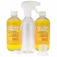 YELLOW  MAGIC 2x 500ml Cleaning Solution + Mixer Bottle with Spray Nozzle NEW