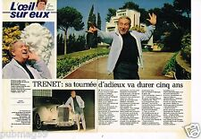 Coupure de presse Clipping 1981 (2 pages) Charles Trenet