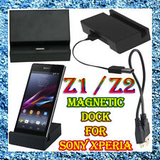 Micro USB Cable + Magnetic Charger Charging Dock for SONY Xperia Z1 Z2