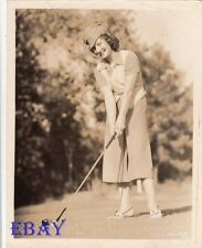 Norma Shearer sexy plays golf VINTAGE Photo