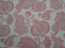Sanderson Curtain Fabric 'China Blue' Linen/Red 5.2 METRES (520cm) Woven Fabric