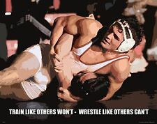 Wrestling Motivational Poster Art Shoes Singlet Head Gear Kids College  MVP479