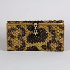 authentic GUCCI Ruby & Enamel Python Snakeskin Panther Snake Long Wallet