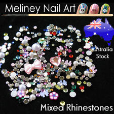 Nail Art Mixed Rhinestones Half Pearls Decals Decorations DIY Mobile Phone Case