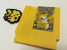 Pokémon Yellow Version for NINTENDO NES Tested and SAVES+ FREE US SHIPPING