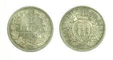 pcc1644_12) Repubblica San Marino - Vecchia monetazione 1 Lira 1898  - rara