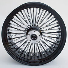 """Black & Chrome Ultima 48 King Spoke 18"""" x 8.5"""" Rear Wheel for Custom Models"""