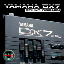 YAMAHA DX7/DX7II Original Factory & New Created Sound Library/Editors on CD