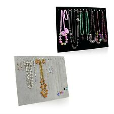Necklace Jewelry Pendant Chain Show Display Holder Stand Neck Velvet Easel AB