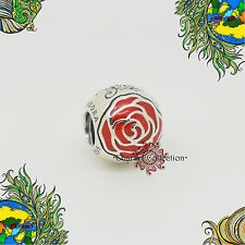 Genuine Pandora, Disney Belle's Enchanted Rose Charm 791575EN09