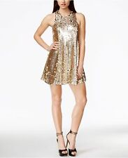 Guess Rose Gold Sleeveless Sequin Shift Dress S Small NWT NEW $138
