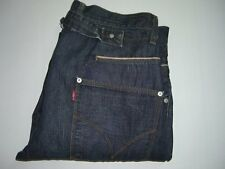 Mens LEVI'S Engineered Twisted Cinchback Jeans W32 L32 Dark Blue - Damaged Hems