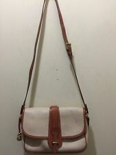 DOONEY & BOURKE SHOULDER BAG CROSSBODY CREAM & BRITISH TAN