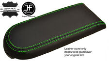 GREEN STITCH REAL LEATHER ARMREST LID COVER FOR VW GOLF MK4 JETTA GTI 1998-2005