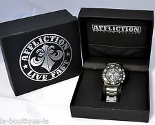 Affliction - GENTS CHRONOGRAPH STEEL - Men's Watch - NEW - AF3612S -  Black
