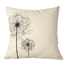 Cotton Linen Square Decorative Throw Pillow Case Cushion Cover Dandelion  HOT