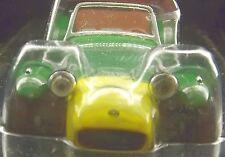 """LOTUS 7 CATERHAM 3.25"""" SCALE MODEL Lotus Seven 7 LHD BROWN GREEN YELLOW LOTUS-7"""