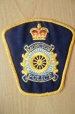 Patches: MONCTON NEW BRUNSWICK, CANADA POLICE PATCH (NEW*apx.10x10 cm)