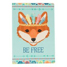 Be Free Fox A5 Notebook Note Pad Plain Paper Writing Journal Gift Drawing Book