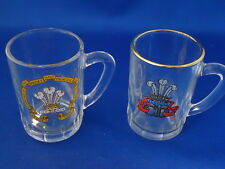 LOT -2 MINI GLASSES ROYAL WEDDING Prince Charles Lady Diana Spencer CUP MUG SHOT