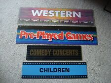 4 MOVIE GENRE SIGNS FOR HOME THEATER - WALL ART