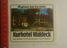 Aufkleber/Sticker: Ringhotel Bad Dürrheim Kurhotel Waldeck (25101663)