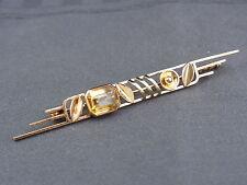 schöne alte Brosche 585/-Gold Citrin ca.40er Jahre signiert