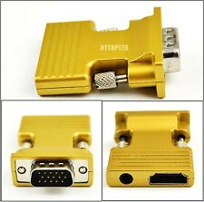 HDMI Female to VGA Male Converter w/ Audio Adapter Support 1080P Output Signal
