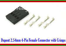 50 SETS ( Dupont 2.54mm 4-Pin Connector Socket x 50 & with Female Crimps x 200 )