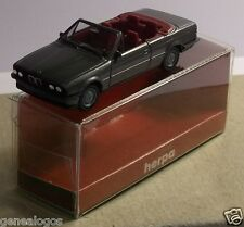 MICRO HERPA HO 1/87 BMW CABRIOLET GRIS FONCE METAL in box