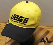 JEG'S HIGH PERFORMANCE HAT YELLOW AND BLACK ADJUSTABLE VERY GOOD CONDITION