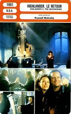 Fiche Cinéma. Movie Card. Highlander. Le retour (USA) 1991 Russell Mulcahy
