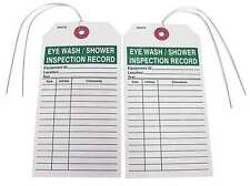 BADGER TAG & LABEL CORP 103 Eye Wash/Shower Inspec. Record Tag, PK25
