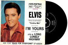 "ELVIS PRESLEY - I'M YOURS / LONG LONELY HIGHWAY - RARE 7""45 VINYL RECORD PIC SLV"