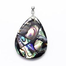 Pendentif coquille abalone POIRE GOUTTE magnifique unique 40mm x 30mm