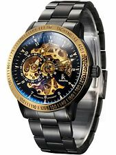 Alienwork IK Automatic Watch Self-winding Skeleton Mechanical Stainless Steel...
